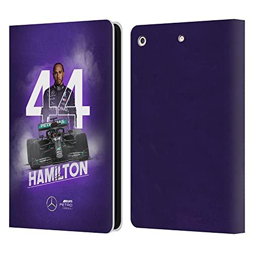Head Case Designs Funda de piel con tapa para iPad Air (2013) de Mercedes-AMG Petronas F1 Team Car Graphics 1 Lewis Hamilton