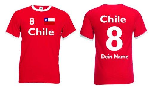 Chile Retro Trikot mit Wunschname & Nummer von S-XXL|s