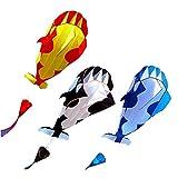 Nuevo 1.2M Cometa Sin Marco Suave Umbrella Ball Ballena Kale Flying Kite Deportes Deportivos Niños Niños Cometas Divertidas (Color : Blue-White, tamaño : 400 Meter Line)
