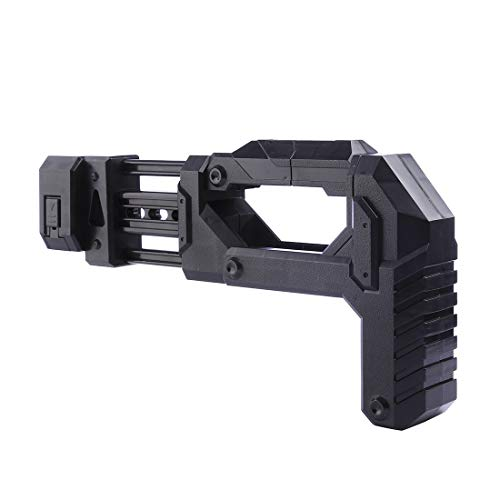 XFC-Stocks, Stock de Piezas modificadas for la Serie Elite de Nerf for Pistola de Juguete Tipo de Piezas de bláster de Bala Suave Stock for modificación de Nerf Negro