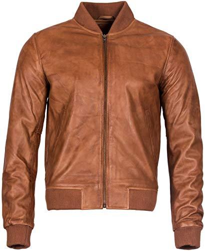 Infinity Leather Männer Bräunen Ziege Wildleder Bomber Varsity Jacke 4XL