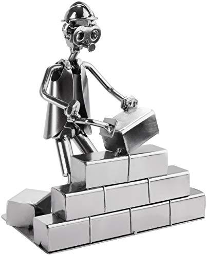 BRUBAKER Hombre Tornillo Albañil - Figura de Hierro Hecha a Mano Hombre de Metal - Figura de Metal Idea de Regalo para Albañiles y Artesanos