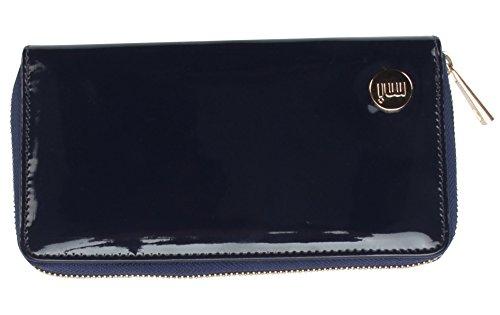 Mediados-Pac oro cartera de la cremallera del monedero, 20 cm, azul...