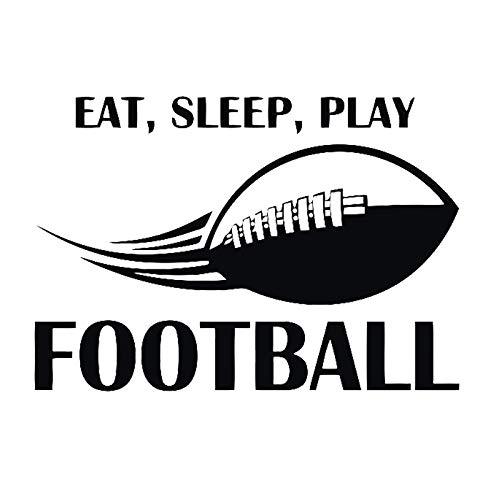 Geiqianjiumai Eet slaap, voetbal spelen, voetbal muur sticker, vinyl applique, kunst muur, muurschildering, jongen kamer decoratie
