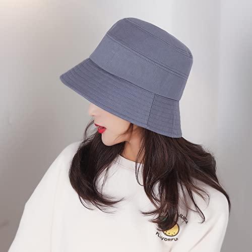 JUNJUNBO Cappello da Pescatore in Cotone da Donna, Cappello da Pescatore in Cotone, Cappello da Pescatore, Cappello da Sole Estivo, Piatto, Moda Solido