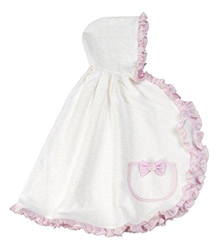 FILET badjas van zachte badstof voor pasgeborenen/kinderen I badjas van zachte badstof I 100% katoen - wit roze