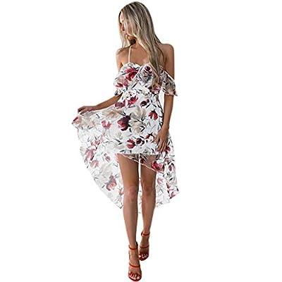 Muranba Womens Dresses Off Shoulder Boho Flower Lady Beach Summer Sundrss Maxi Dress