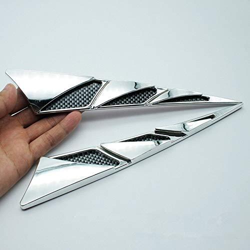 Puchi1 - Adhesivo decorativo para capota de aire de salida de aire para coche, accesorios de exterior de alta calidad, duradero, práctico (color: plata)