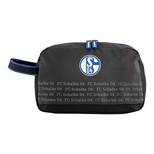 Schalke 04 FC Kulturbeutel Kulturtasche grau