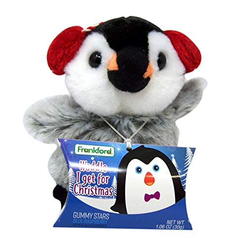 Stuffed Animal Christmas Penguin with Gummy Candy