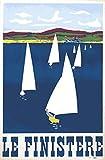Finistere Bretagne Poster, Format 50 x 70 cm, Papier 300 g,
