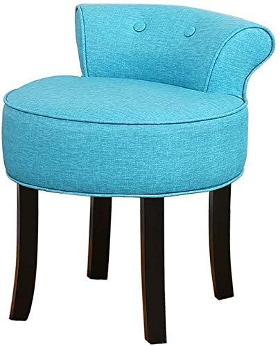 JJSFJH Gepolsterte Barhocker Velvet Dressing Make-up-Stuhl, Schlafzimmer Rückenlehne Stuhl mit Massivholz Beine, for Cafe Lounge Study Room Pub (Farbe : B)