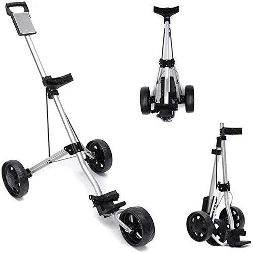 Carro de golf LSF con 3 ruedas, carrito de golf plegable en un segundo para abrir y cerrar Carro plegable Carros de golf ligeros con tabla de puntuación freno de pie