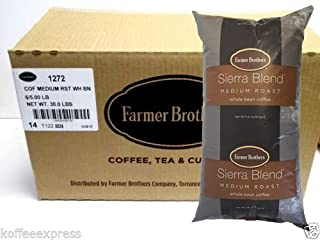 Farmer Brothers Sierra Blend Medium Roast Whole Bean Coffee (6 bag/5 lbs)