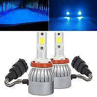 Mochid 2個のコブランプが付いている2個のPCSの定電流車LEDヘッドライトH8 / H9 / H11 18W 1800 LM 6000K、DC 9-36V (Color : Ice Blue Light)