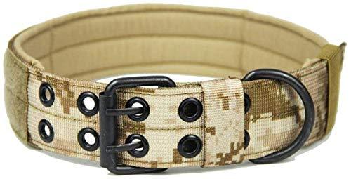 FTFDTMY Hundehalsbänder Verstellbares Hundehalsband Tactical Training Haustierhalsband 4,5 cm breit Robustes Nylonhalsband für kleine und große Hunde Haustierprodukte, DDC, M (37-45 cm)