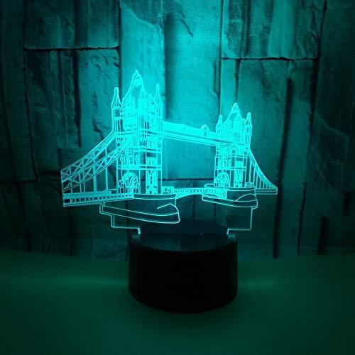 3D Nachtlicht, Touch 3D-Illusionslampe mit Fernbedienung, USB-LED-Tischlampe Stimmung Nachtlichter für Schlafzimmer Kinderzimmer (Color : 4)