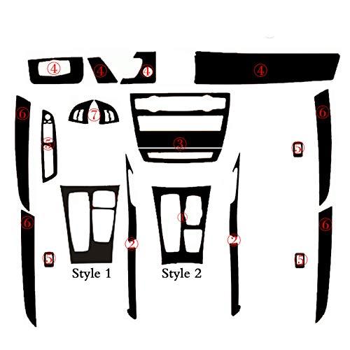 Wcnsxs Per BMW X5 E70 / X6 E71 Interno Pannello di Controllo Centrale Maniglia per Porta 3D / 5D Adesivi in Fibra di Carbonio Decalcomanie Car Styling Accessori
