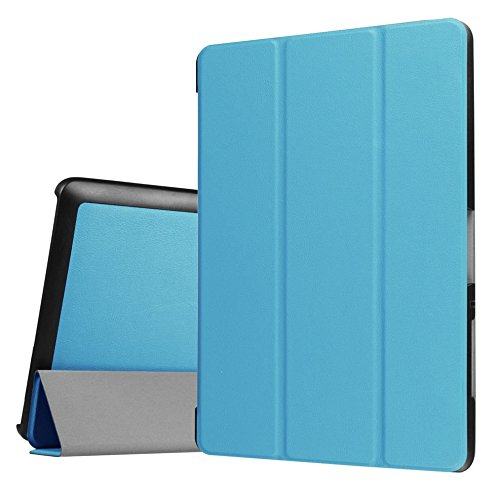 Tasche für Acer Iconia One Tab 10 B3-A30 / A3-A40 10.1 Zoll Schutz Hülle Flip Tablet Cover Hülle (Hellblau)