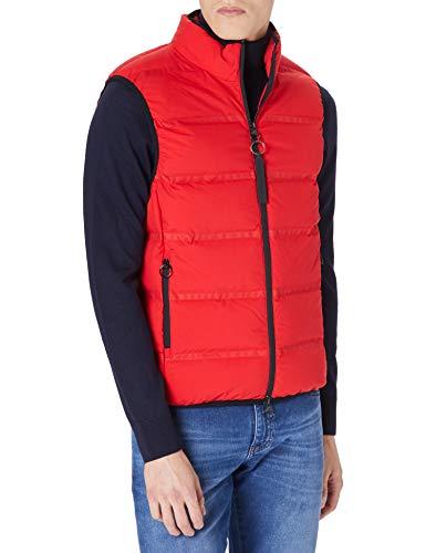 Armani Exchange Down Vest Logo Tape Chaleco de Pluma, Absolut Red, XL para Hombre