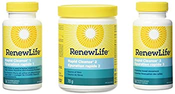 Renew Life Adult Cleanse - 7-Day Rapid Total Body Cleanse for Men & Women - 3-Part 7-Day Program - Gluten Dairy & Soy Free - 28 Vegetarian Capsules + 2.2 Ounce Powder Formula  Packaging May Vary
