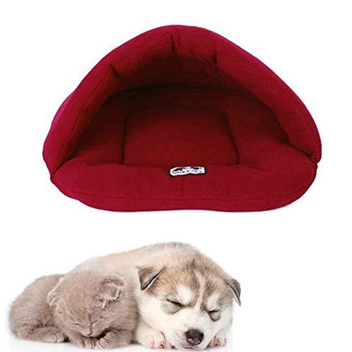 llasm Casa Gato Precioso Camas Perros Medianos Cama Perro Pequeño Lavable Cama Mascotas Perro Cama Perro Redonda para Soporte para El Cuello Durante El Sueño Red,Small