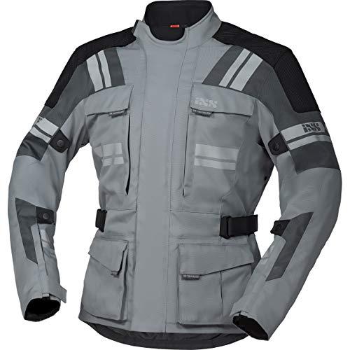 IXS Motorradjacke mit Protektoren Motorrad Jacke Blade-ST 2.0 Tour Textiljacke grau/Silber/schwarz 5XL, Herren, Tourer, Ganzjährig, Polyester