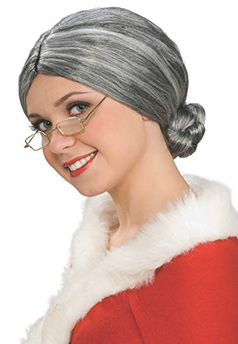 Rubie's Characters Old Lady / Mrs. Santa Wig, One Size