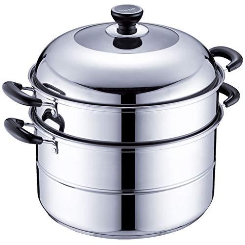 Cuiseur vapeur, acier inoxydable, double fond/épaississement, multi-usages, deux couches, cuisinière à induction universelle 32cm