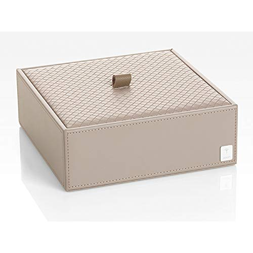 JOOP! Homeline universal-box Grau in Leder Optik mit elegantem Flecht Deckel