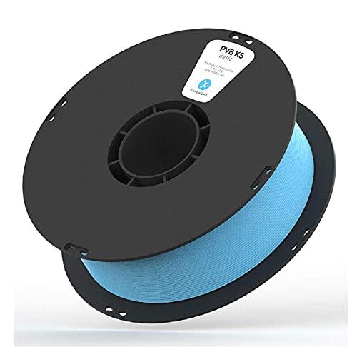 Filamento per stampante 3D M I A 1,75 mm, PVB K5 può essere lucidato materiale modificato 1 kg, facile da lucidare, solubile in etanolo-rosso (colore blu)