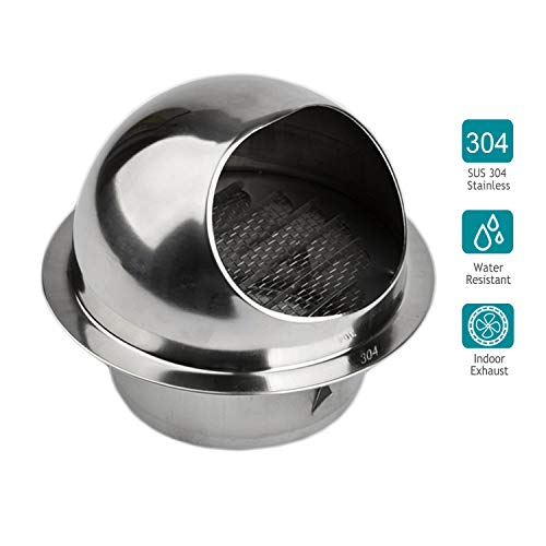HG POWER 304 Stainless Steel Air Vent Round Grille Ventilation Cover Wall Vent Outlet 4 Inch