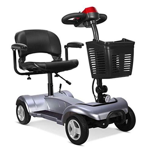 LLPDD Scooter, portátil Plegable Scooter - Eléctrica de 4 Ruedas Scooters para...