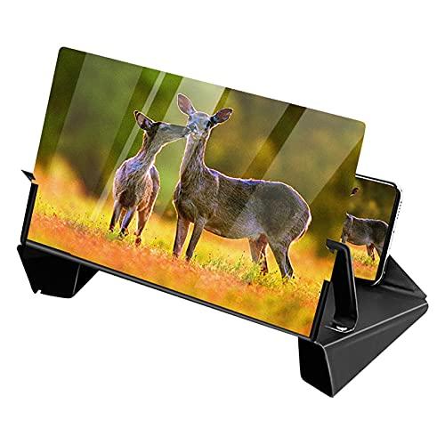Lupa de teléfono Inteligente, Amplificador de Pantalla de teléfono Lupa de Pantalla de teléfono de Lupa de BLU-Ray HD 3D