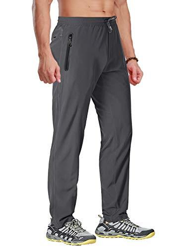 BIYLACLESEN Quick Dry Pants Men Hiking Pants Mens Lightweight Pants Fishing Pants for Men Travel Pants Men Climbing Pants Quick Dry Pants Men Dark Grey