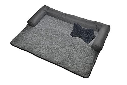 RAIKOU Hundebett Couch für Sofaschutz Hund und Kofferraumschutz, Antirutsch Beschichtung Hundedecke , Waschbares Sessels mit Reißverschluss , Hundematte für Grosse kleine Hunde
