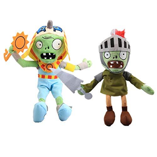 uiuoutoy 2 Stück Pflanzen gegen Zombies Plüsch PVZ Plüschtiere Pharaoh Zombie Knight Zombie Kuscheltiere Spielzeug Puppen Geschenk