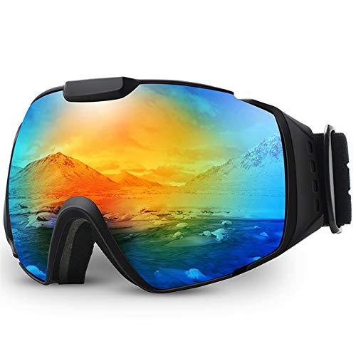 N\A Gafas de esquí Gafas de esquí, OTG Anti-Niebla Snowboard Skate Snowmoblie Doble Capa Lente esférica Gafas de Nieve Hombres Mujeres M4 Gafas de Snowboard de esquí (Color : C1 Colorful)