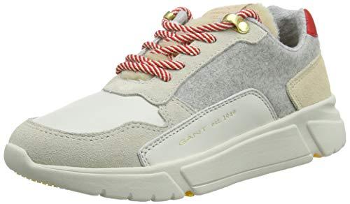 GANT Footwear Damen Madison Sneaker, Mehrfarbig (Cream/Gray Mel. G117), 39 EU