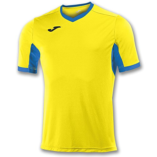 Joma Champion IV M/C Camiseta Equipamiento, Hombre, Amarillo/Royal, 6XS-5XS