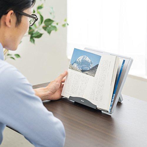 サンワサプライ『A4書見台(ブックスタンド・縦横両対応・5段階高さ調節・プラスチック製)(200-DH005)』