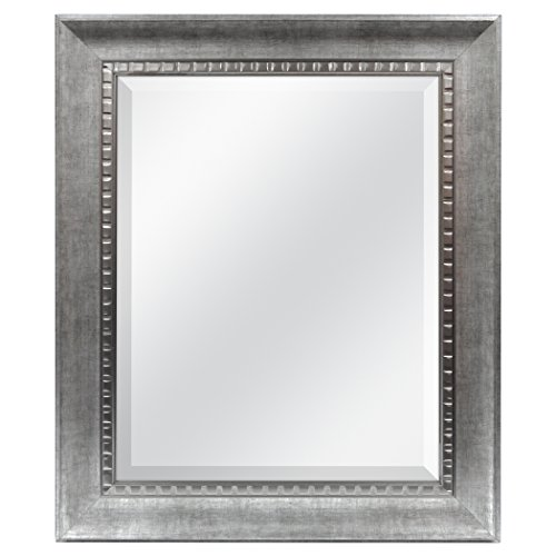 MCS 16x20 Inch Sloped Mirror, 21.5x25.5 Inch Overall Size, Silver -