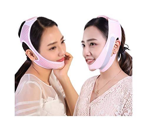 XYSQWZ Lifting du Visage Et Cou Post-élastique Manches Forme Masque en V Rétrécissement Menton Bandage Mince Serrage Petit Artefact (Deux Paquets) (Taille: M)