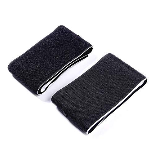 ZADAWERK® Klettverschluss - 100 mm x 100 cm - Schwarz - Klettband selbstklebend
