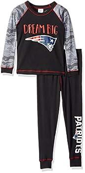 NFL New England Patriots Unisex 2-Piece Pajama Set Black 3T