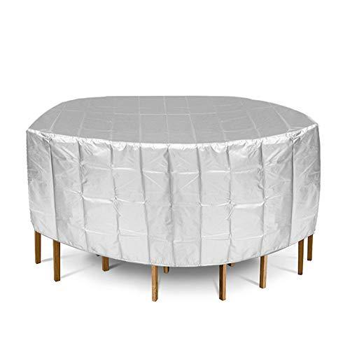 YOUTTOO Housse de protection anti-poussière, 188 x 84 cm Argenté imperméable pour meubles de jardin Table ronde de jardin