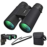 High Power Binoculars, Kylietech 12x42 Binocular for Adults with BAK4 Prism, FMC Lens, Fogproof & Waterproof Great for Bird Watching Travel Stargazing Hunting Concerts (Smartphone Adapter Included)