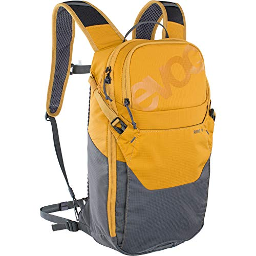 Evoc Ride 8 Backpack + Pocket 2L Orange/Grey MTB Unprotective Adult Unisex, 10
