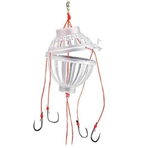 Karpfenangeln Köder Hakenköder Trap-Hooks mit Frühlings-Feeder Angeln Angelhaken Fischen-Werkzeug-Gerät