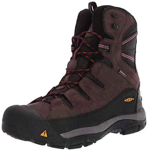 KEEN Men's Summit County Mid Calf Boot, Mulch/Black, 12 M US